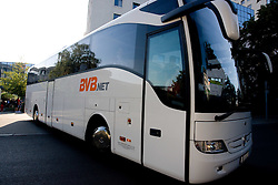 Shuttle bus  at departure back to Slovenia during day five of the 12th IAAF World Athletics Championships at the Hotel Estrel on August 18, 2009 in Berlin, Germany. (Photo by Vid Ponikvar / Sportida)