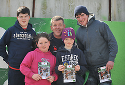 Supporting the Westport Bulls on junior cup final day were Ruairi, Saoirse, Oisin and Peter Spellman with their dad Peadar.<br /> Pic Conor McKeown