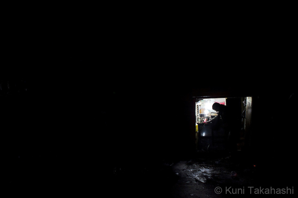 (Jan 3, 2012 - Kathmandu, Nepal).Only shops with generators can provide power during power outage in Kathmandu, Nepal, on Jan 3, 2012. For the last several years, nearly 800,000 people of the capital city faced up to 16 hours of blackouts every day, mainly caused by political instability. Nepal is said to be second only to Brazil in terms of water resources but the government has been incapable of harnessing hydropower..(Photo by Kuni Takahashi)
