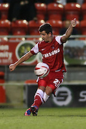 Picture by David Horn/Focus Images Ltd +44 7545 970036.21/08/2012.Lloyd James of Leyton Orient during the npower League 1 match at the Matchroom Stadium, London.