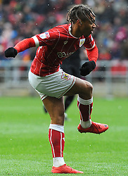 Bobby Reid of Bristol City shoots at goal- Mandatory by-line: Nizaam Jones/JMP - 17/03/2018 - FOOTBALL - Ashton Gate Stadium- Bristol, England - Bristol City v Ipswich Town - Sky Bet Championship