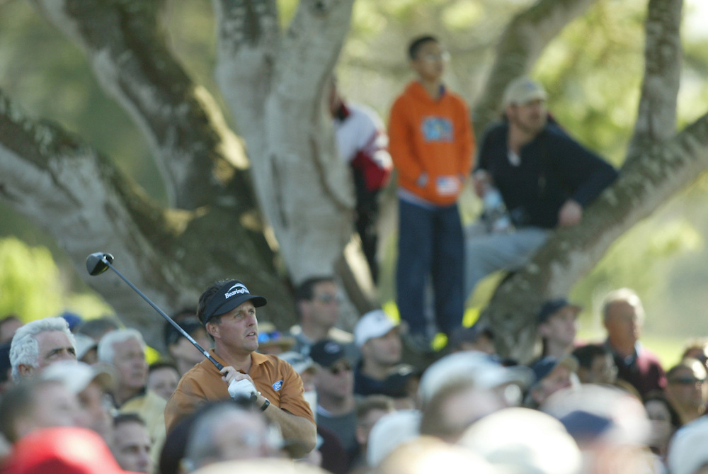 Phil Mickelson..2004 AT&T Pebble Beach National Pro-Am.Third Round.Pebble Beach Golf Links.Saturday, February 7 2004..Photograph by Darren Carroll .