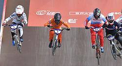 11-08-2018 BMX: EUROPEAN CHAMPIONSHIPS BMX CYCLING: GLASGOW<br /> Laura Smulders (links) en Judy Baauw (rechts) BMX vrouwen<br /> <br /> Foto: Margarita Bouma