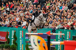 KLAESENER Christopher (GER), Cornet's Spirit<br /> Leipzig - Partner Pferd 2020<br /> Longines FEI Jumping World Cup™ presented by Sparkasse<br /> Sparkassen Cup - Großer Preis von Leipzig FEI Jumping World Cup™ Wertungsprüfung <br /> Springprüfung mit Stechen, international<br /> Höhe: 1.55 m<br /> 19. Januar 2020<br /> © www.sportfotos-lafrentz.de/Stefan Lafrentz