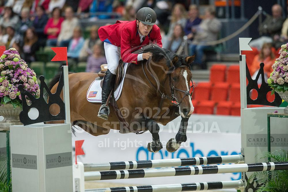 Karl Cook (USA) & Jonkheer - Rolex FEI World Cup Jumping Final 1 - Gothenburg Horse Show 2013 - Scandinavium, Gothenburg, Sweden - 25 April 2013