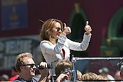 Actress Patricia Heaton seen at the Indy 500 Festival Parade on May 25, 2008. Photo by Michael Hickey