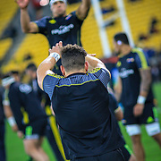 Lineout practice Before the Super rugby union game (Round 14) played between Hurricanes v Reds, on 18 May 2018, at Westpac Stadium, Wellington, New  Zealand.    Hurricanes won 38-34.