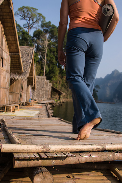 Thailand, Khao Sok, yoga retreat in the rain forest