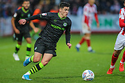 Forest Green Rovers Jack Aitchison(29), on loan from Celtic runs forward during the EFL Sky Bet League 2 match between Cheltenham Town and Forest Green Rovers at Jonny Rocks Stadium, Cheltenham, England on 2 November 2019.