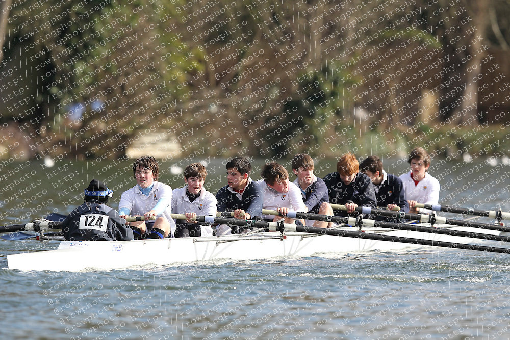 2012.02.25 Reading University Head 2012. The River Thames. Division 1. Eton College Boat Club D J15A 8+