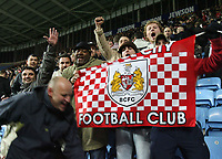 Photo: Rich Eaton.<br /> <br /> Coventry City v Bristol City. The FA Cup. 16/01/2007. Bristol fans celebrate their 2-0 victory at Coventry