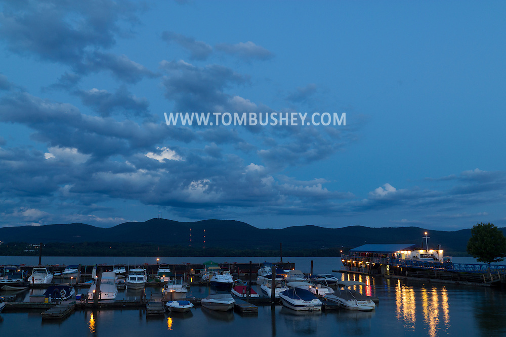 Newburgh, New York - Newburgh waterfront scenes on the evening of Aug. 14, 2014.
