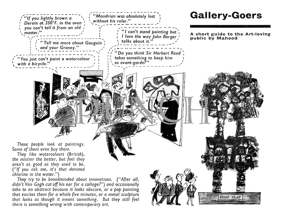 Gallery-Goers. A short guide to the Art-loving public by Mahood.