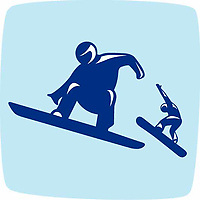 OLYMPIC GAMES VANCOUVER 2010 - VANCOUVER (CAN) - PHOTO : VANOC/COVAN / DPPI<br /> PICTOGRAMS - SNOWBOARD CROSS