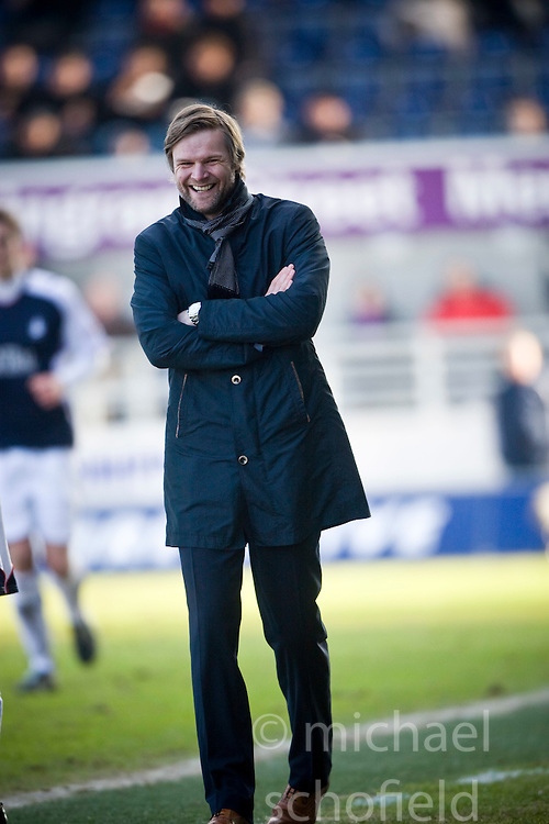 Steven Pressley, Falkirk manager..Falkirk 0 v 2 Celtic..©2010 Michael Schofield. All Rights Reserved.