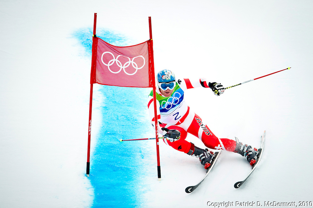 Didier Cuche, SUI, competes in the Men's Giant Slalom during the 2010 Vancouver Winter Olympics in Whistler, British Columbia, Tuesday, Feb. 23, 2010.