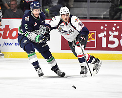Luke Boka of the Windsor Spitfires in Game 3 of the 2017 MasterCard Memorial Cup against the Seattle Thunderbirds on Sunday May 21, 2017 at the WFCU Centre in Windsor, ON. Photo by Aaron Bell/CHL Images