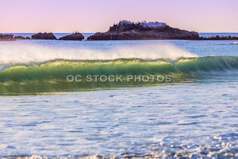 Laguna Beach Waves With Bird Rock in the Background