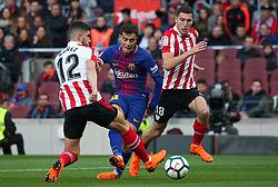 March 18, 2018 - Barcelona, Spain - Philippe Coutinho and Nunez during the match between FC Barcelona and Athletic Club, played at the Camp Nou Stadium on 18th March 2018 in Barcelona, Spain. (Credit Image: © Joan Valls/NurPhoto via ZUMA Press)