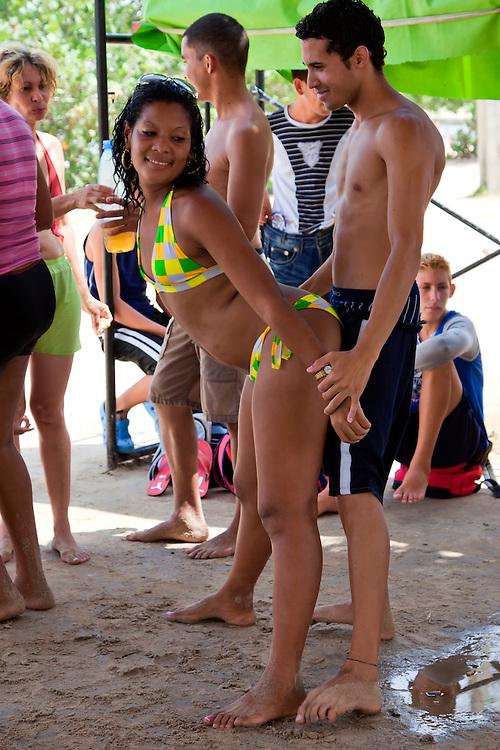 Dancing at Playa Blanca, Holguin, Cuba.