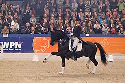 Minderhoud Hans Peter (NED) - IPS Painted Black<br /> Afscheid Gribaldi<br /> KWPN Hengstenkeuring 's Hertogenbosch 2010<br /> © Dirk Caremans