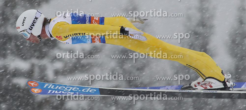 31.12.2011, Olympia Skisprungschanze, Garmisch Partenkirchen, GER, 60. Vierschanzentournee, FIS Ski Sprung Weltcup, Training, im Bild Maximilian MECHLER (GER) // Maximilian MECHLER (GER) during a practice session of 60th Four-Hills-Tournament FIS World Cup Ski Jumping at Olympia Skisprungschanze, Garmisch Partenkirchen, Germany on 2011/12/31. EXPA Pictures © 2011, PhotoCredit: EXPA/ Sven Kiesewetter