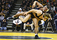 January 29, 2010: Penn State's Justin Ortega tries to control Iowa's Jay Borschel in the 174-pound bout at Carver-Hawkeye Arena in Iowa City, Iowa on January 29, 2010. Borschel won the match 14-2 and Iowa defeated Penn State 29-6.