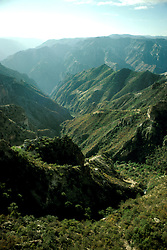 """Mexico: """"Grand Canyon""""..Unique branch of Copper Canyons, Barranca del Cobre, Sierra Madre Occidental..Photo copyright Lee Foster, www.fostertravel.com, .Photo #: mxtara101, 510/549-2202, lee@fostertravel.com"""