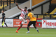 Manny Duku and Louis John  during the EFL Sky Bet League 2 match between Cambridge United and Cheltenham Town at the Cambs Glass Stadium, Cambridge, England on 25 August 2018.