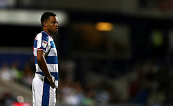"Queens Park Rangers' Jordan Cousins during the Sky Bet Championship match at Loftus Road, London. PRESS ASSOCIATION Photo. Picture date: Tuesday August 21, 2018. See PA story SOCCER QPR. Photo credit should read: John Walton/PA Wire. RESTRICTIONS: EDITORIAL USE ONLY No use with unauthorised audio, video, data, fixture lists, club/league logos or ""live"" services. Online in-match use limited to 120 images, no video emulation. No use in betting, games or single club/league/player publications."