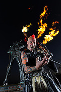The Bad Piper, from Fremantle Western Australia. The world's only flame throwing bag pipe player