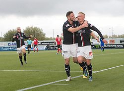 Falkirk's Craig Sibbald celebrates after scoring their first goal. Falkirk 2 v 1 Dunfermline, Scottish Championship game played 15/10/2016, at The Falkirk Stadium.