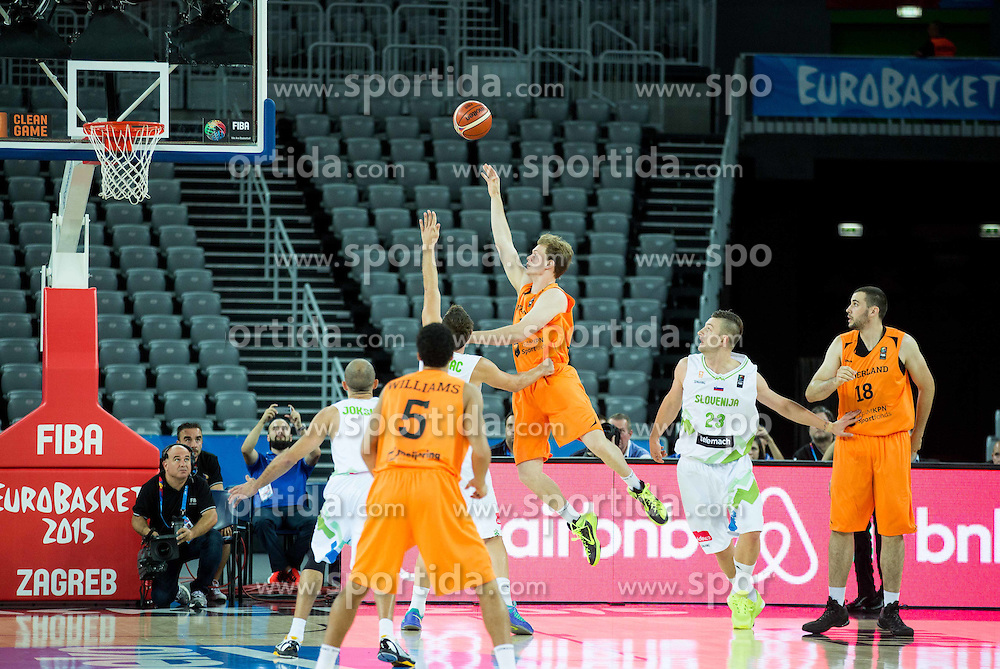 Robin Smeulders of Netherlands during basketball match between Slovenia vs Netherlands at Day 4 in Group C of FIBA Europe Eurobasket 2015, on September 8, 2015, in Arena Zagreb, Croatia. Photo by Vid Ponikvar / Sportida