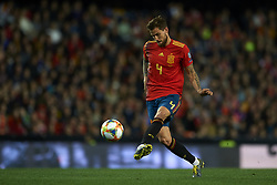 March 23, 2019 - Valencia, Valencia, Spain - Inigo Martinez of Spain does passed during the 2020 UEFA European Championships group F qualifying match between Spain and Norway at Estadi de Mestalla on March 23, 2019 in Valencia, Spain. (Credit Image: © Jose Breton/NurPhoto via ZUMA Press)