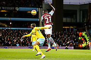 Aly Cissokho of Aston Villa (centre) cuts out a cross during the Barclays Premier League match at Villa Park, Birmingham<br /> Picture by Andy Kearns/Focus Images Ltd 0781 864 4264<br /> 01/01/2015