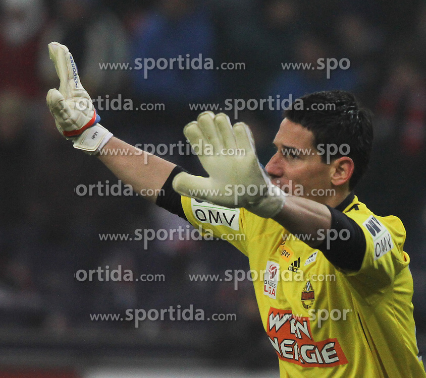 20.02.2011, Red Bull Arena, Salzburg, AUT, 1. FBL, FC Red Bull Salzburg vs SK Rapid Wien, im Bild Helge Payer, (SK Rapid Wien, Keeper, #24), EXPA Pictures © 2011, PhotoCredit: EXPA/ D. Scharinger