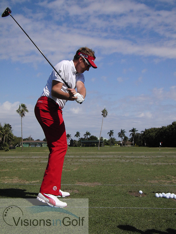 Ian Poulter<br /> High speed swing sequence<br /> March 2013<br /> Picture Credit:  Mark Newcombe / www.visionsingolf.com