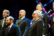 Finnish 'shouting' choir Mieskuoro Huutajat during performance of Opera Industriale, on the opening weekend of Rijeka2020. Rijeka, European Capital of Culture 2020, Croatia © Rudolf Abraham