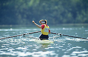 FISA World Cup 1990's, at Lucerne International Regatta, Lake Rotsee, Lucerne SWITZERLAND and Henley Royal Regatta..GER W1X Titi.FISA World cup events Lucerne and HRR Pictures from the first World Cup events, Men's and Women's singles 1990/91 FISA World Cup Lucerne and