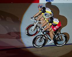 06-01-2012 WIELRENNEN: RABOBANK ZESDAAGSE: ROTTERDAM<br /> (L-R) Pim Ligthart, Robert Bartko GER<br /> (c)2012-FotoHoogendoorn.nl / Peter Schalk