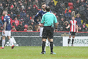Ben Brereton of Nottingham Forest (17) gets a lecture from Paul Tierney during the EFL Sky Bet Championship match between Sheffield United and Nottingham Forest at Bramall Lane, Sheffield, England on 17 March 2018. Picture by Mick Haynes.
