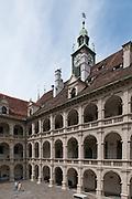Arkaden im Renaissance Innenhof Landhaus, UNESCO Welterbestätte Stadt Graz – Historisches Zentrum, Steiermark, Österreich |  Renaissance arcades in the courtyard cottage, UNESCO World Heritage Site city of Graz - Historic Centre, Steiermark, Austria