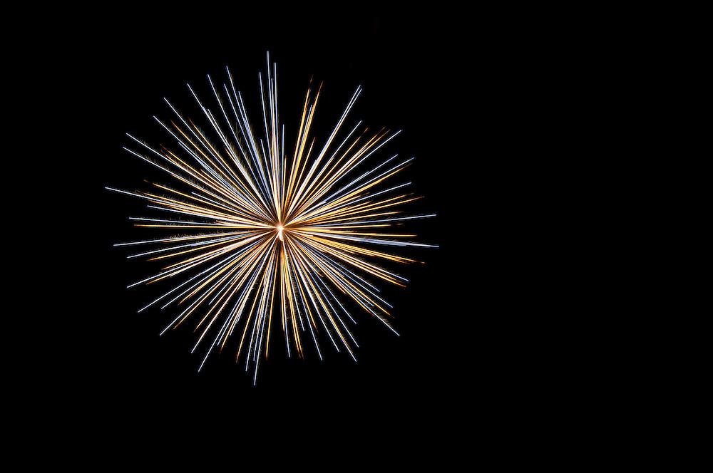 A firework display during Trinity Days, at Trinity on the Bonavista Peninsula, Newfoundland, Canada.