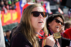 Fan during the Ski Flying Hill Team Competition at Day 3 of FIS Ski Jumping World Cup Final 2016, on March 19, 2016 in Planica, Slovenia. Photo by Ziga Zupan / Sportida