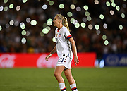 United States midfielder Allie Long (20) in an international friendly women's soccer match, Saturday, Aug. 3, 2019,  in Pasadena, Calif., The U.S. defeated Ireland 3-0. (Dylan Stewart/Image of Sport)
