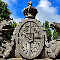 U.K.&rsquo;s Royal Coat of Arms at NUI Galway in Galway, Ireland<br />