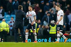 Tottenham Hotspur Manager Mauricio Pochettino congratulates Kyle Walker after they win 0-2 - Mandatory byline: Rogan Thomson/JMP - 13/03/2016 - FOOTBALL - Villa Park Stadium - Birmingham, England - Aston Villa v Tottenham Hotspur - Barclays Premier League.