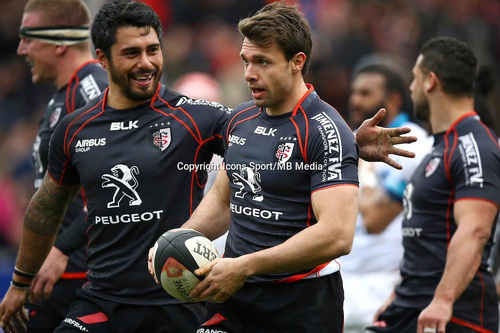 Joie Vincent Clerc - 14.03.2015 - Toulouse / Montpellier - 20e journee Top 14<br /> Photo : Manuel Blondeau / Icon Sport