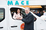 MACE gifts new minibus to local Galway club<br /> The SCCUL Sanctuary, Ballybane, Galway was announced as the winner of the MACE Win a Minibus for your local club competition. Handover of the minibus took place at McGreal&rsquo;s MACE in Ballybrit, where the SCCUL Sanctuary entered the competition.  Pictured accepting the prize was  Trish Murphy SCCUL Sanctuary from Alex Banahan MACE.<br /> Photo:Andrew Downes, xposure.