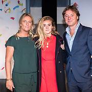 NLD/Amsterdam/20170919 - Opening Hudson Bay Nederland, Frits Sissing, partner Willemijn en dochter